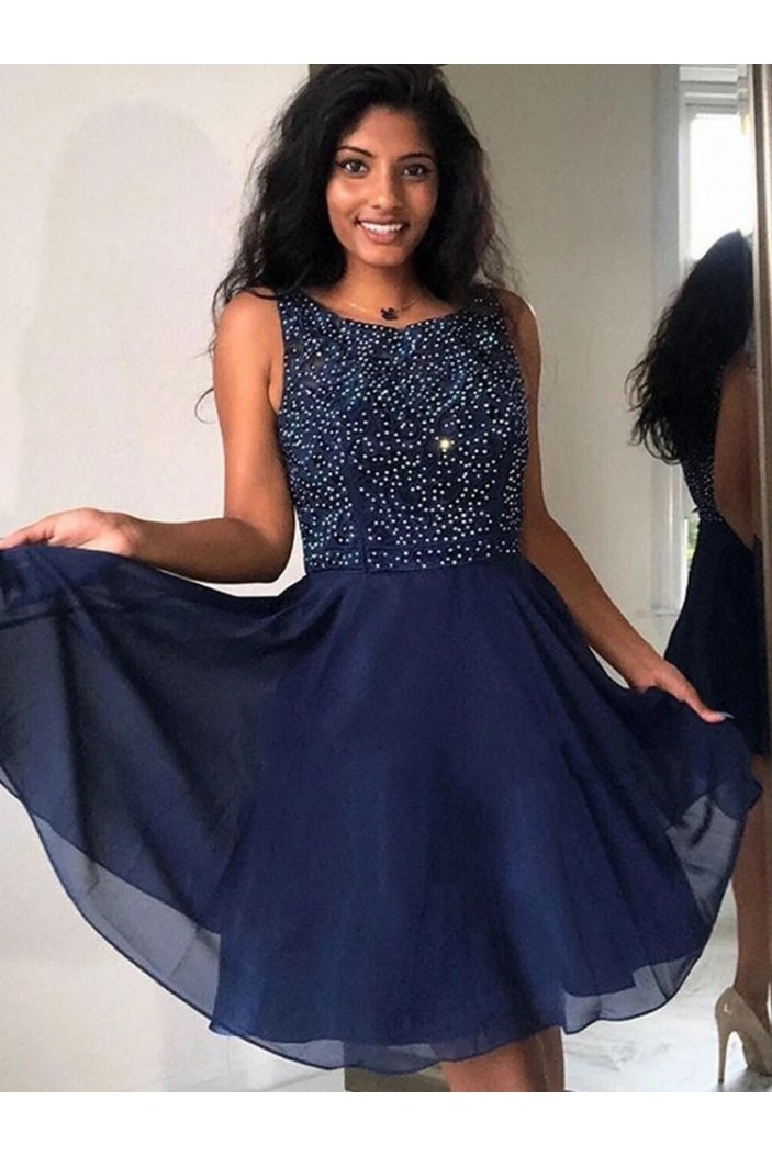 Short Beaded Lace Prom Dress Homecoming Graduation Cocktail Dresses 701245