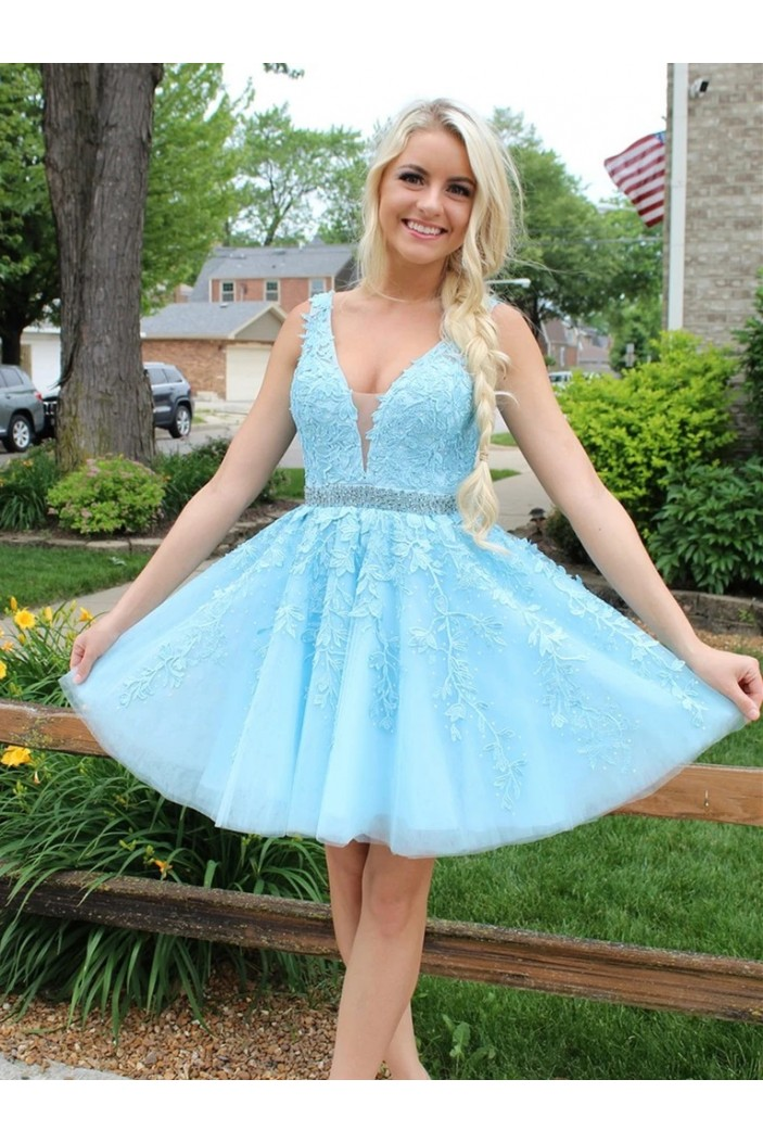 Short Beaded Lace Prom Dress Homecoming Graduation Cocktail Dresses 701246