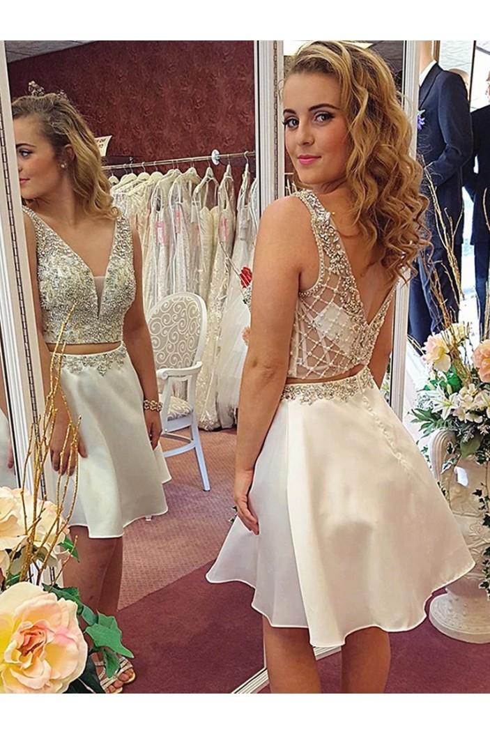 Short Beaded Prom Dress Homecoming Graduation Cocktail Dresses 701263