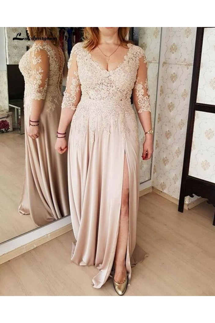 Elegant Lace 3/4 Length Sleeves Mother of the Bride Dresses 702003