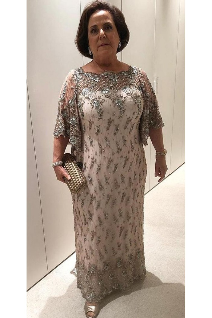 Beaded Lace Plus Size Mother of the Bride Dresses 702006