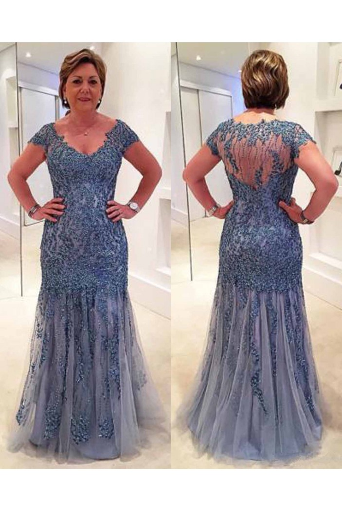 Beaded Lace Floor Length Mother of the Bride Dresses 702016