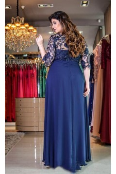A-Line Chiffon Lace Mother of the Bride Dresses 702029
