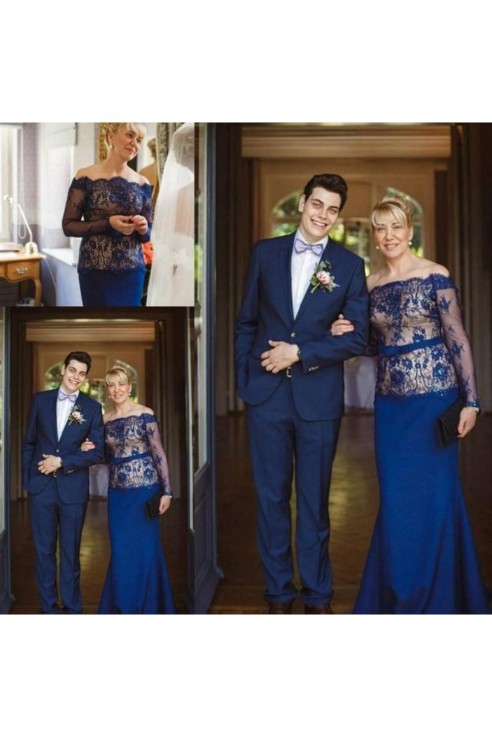 Mermaid Lace Long Sleeves Mother of the Bride Dresses 702033