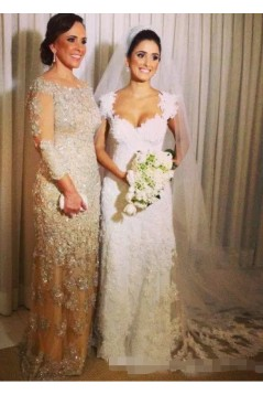 Elegant Beaded Lace Mother of the Bride Dresses 702048