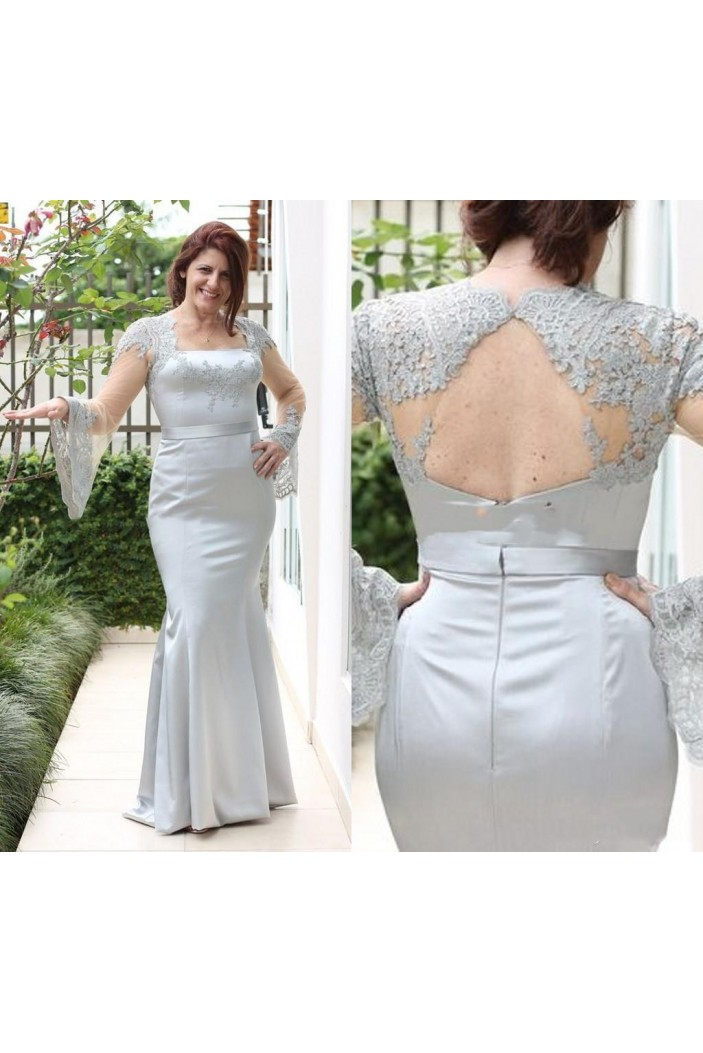 Mermaid Long Sleeves Lace Mother of the Bride Dresses 702054