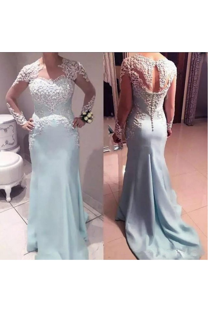 Long Sleeves Lace Mermaid Mother of the Bride Dresses 702064