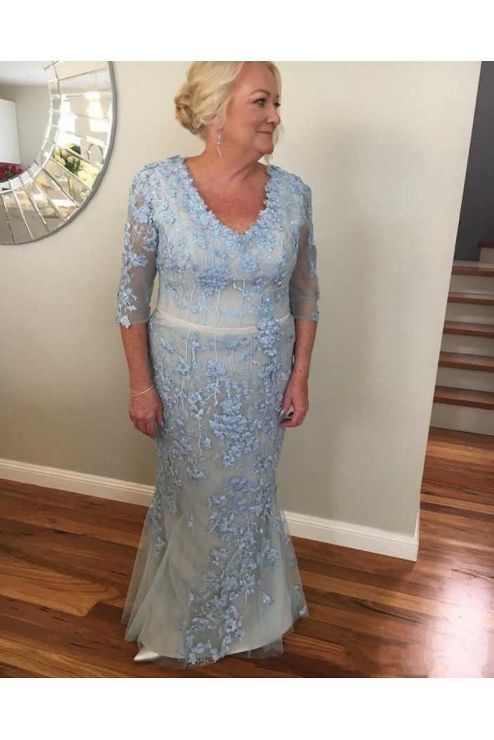 Mermaid Lace Long Mother of the Bride Dresses 702066