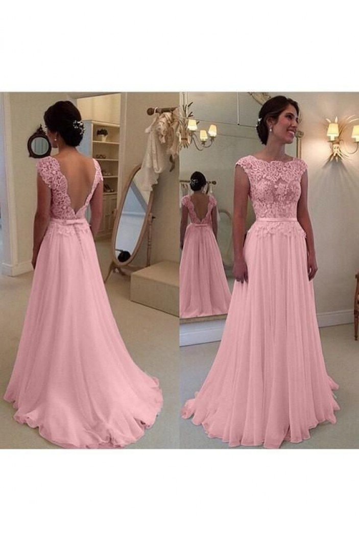 A-Line Beaded Lace Long Mother of the Bride Dresses 702083