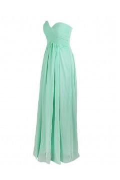 Empire Sweetheart Mint Green Long Chiffon Bridesmaid Dresses/Wedding Party Dresses/Maternity Dresses BD010005