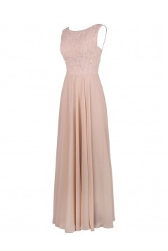 A-Line Long Chiffon and Lace Bridesmaid Dresses/Wedding Party Dresses BD010012