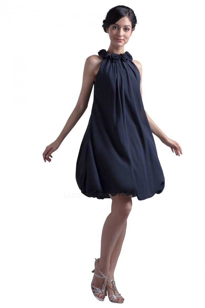 A-Line Short Black Bridesmaid Dresses/Wedding Party Dresses BD010013