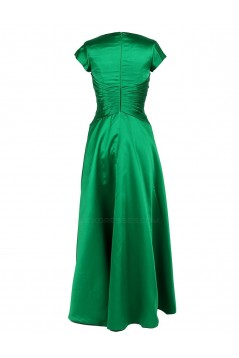 A-Line Short Sleeve Short Green Bridesmaid Dresses/Wedding Party Dresses BD010014