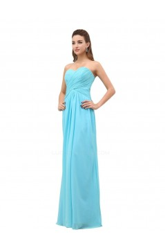 Sweetheart Long Chiffon Bridesmaid Dresses/Wedding Party Dresses BD010015