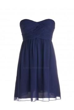 A-Line Short Chiffon Bridesmaid Dresses/Wedding Party Dresses BD010018