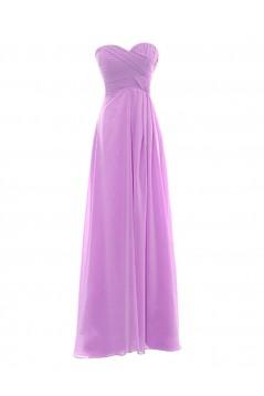 A-Line Sweetheart Long Purple Chiffon Bridesmaid Dresses/Wedding Party Dresses BD010019