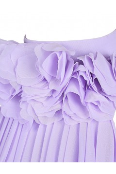 A-Line Halter Short Purple Chiffon Bridesmaid Dresses/Wedding Party Dresses BD010023