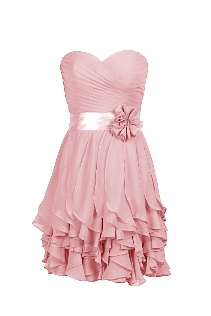 A-Line Sweetheart Pink Short Bridesmaid Dresses/Wedding Party Dresses BD010028