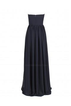 A-Line Sweetheart Long Black Chiffon Bridesmaid Dresses/Wedding Party Dresses BD010029