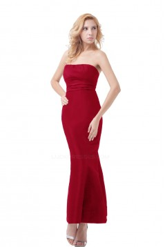Trumpet/Mermaid Strapless Long Bridesmaid Dresses/Wedding Party Dresses BD010030