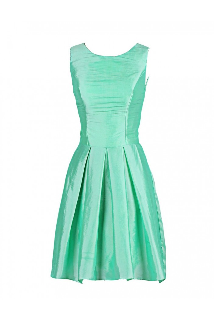 A-Line Short Green Bridesmaid Dresses/Wedding Party Dresses BD010032