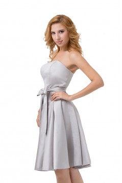 A-Line Strapless Short Bridesmaid Dresses/Wedding Party Dresses BD010034