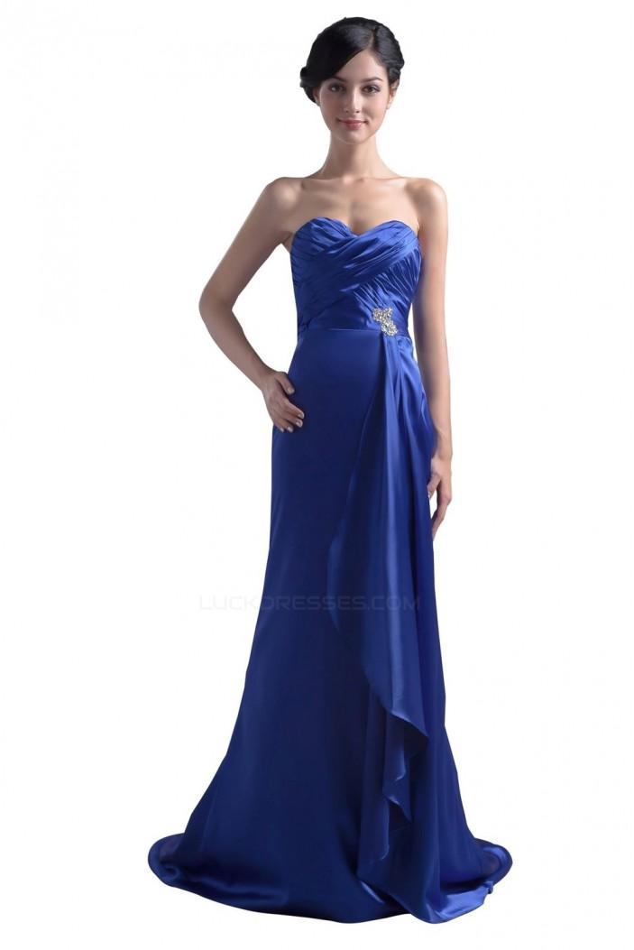 Trumpet/Mermaid Sweetheart Blue Long Bridesmaid Dresses/Wedding Party Dresses BD010042