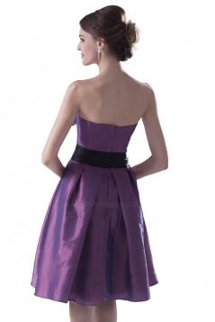 Short/Mini Sweetheart Green Taffeta Bridesmaid Dresses/Wedding Party Dresses BD010044