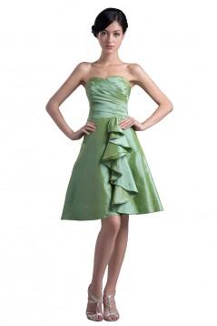 A-Line Strapless Short Taffeta Bridesmaid Dresses/Wedding Party Dresses BD010045