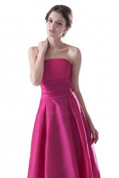 A-Line Strapless Long Bridesmaid Dresses/Wedding Party Dresses BD010049