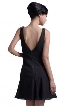 Short/Mini Black Chiffon Bridesmaid Dresses/Wedding Party Dresses BD010052
