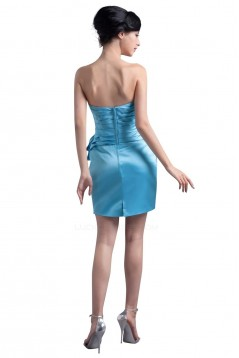 Short/Mini Strapless Blue Bridesmaid Dresses/Wedding Party Dresses BD010054