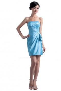 Short/Mini Strapless Blue Bridesmaid Dresses/Wedding Party Dresses BD010054