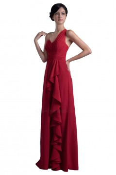 One-Shoulder Long Chiffon Bridesmaid Dresses/Wedding Party Dresses BD010058