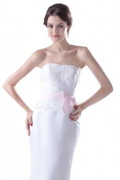 Trumpet/Mermaid Strapless Long Bridesmaid Dresses/Wedding Party Dresses BD010060