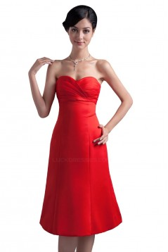 Short Sweetheart Red Bridesmaid Dresses/Wedding Party Dresses BD010064