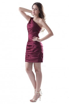 Short/Mini One-Shoulder Bridesmaid Dresses/Wedding Party Dresses BD010066