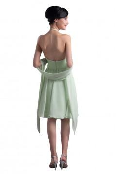A-Line Halter Short Chiffon Bridesmaid Dresses/Wedding Party Dresses BD010068