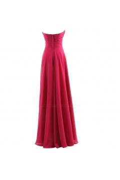 A-Line Sweetheart Long Purple Chiffon Bridesmaid Dresses/Wedding Party Dresses BD010071