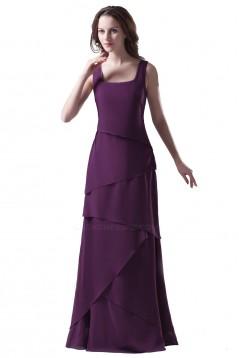 A-Line Straps Long Chiffon Bridesmaid Dresses/Wedding Party Dresses BD010072
