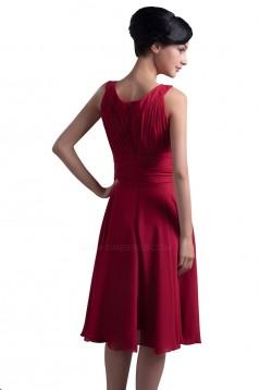 A-Line Short Chiffon Bridesmaid Dresses/Wedding Party Dresses BD010075