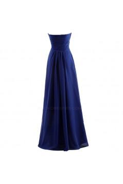 A-Line Sweetheart Long Blue Chiffon Bridesmaid Dresses/Wedding Party Dresses BD010076