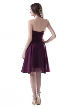 A-Line Strapless Short/Mini Chiffon Bridesmaid Dresses/Wedding Party Dresses BD010078