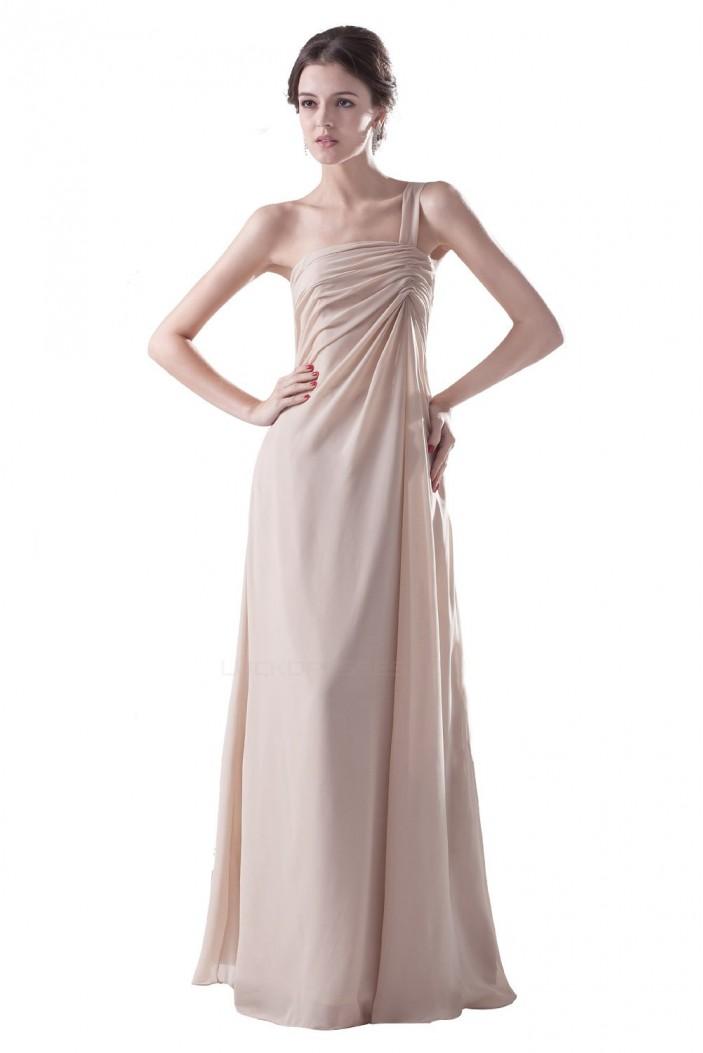 Empire One-Shoulder Long Chiffon Bridesmaid Dresses/Wedding Party Dresses/Maternity Dresses BD010079