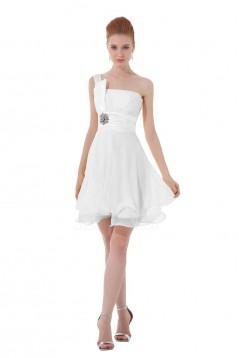 A-Line One-Shoulder Short Chiffon Bridesmaid Dresses/Wedding Party Dresses BD010085