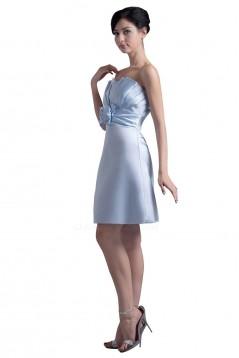 A-Line Strapless Short Bridesmaid Dresses/Wedding Party Dresses BD010091