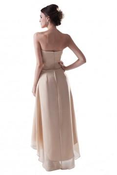 High Low Strapless Short Chiffon Bridesmaid Dresses/Wedding Party Dresses BD010092