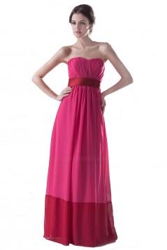 Empire Strapless Long Chiffon Bridesmaid Dresses/Wedding Party Dresses/Maternity Dresses BD010098