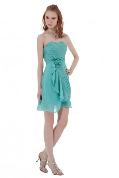 A-Line Sweetheart Short/Mini Chiffon Bridesmaid Dresses/Wedding Party Dresses BD010099