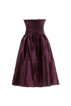 A-Line Strapless Short Bridesmaid Dresses/Wedding Party Dresses BD010105